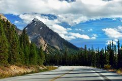 Canadian Rockies, Scenic Road. Canadian Rockies scenic road, Canada stock photos