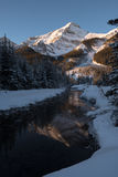 Canadian Rockies. Sunrise in the Canadian Rockies stock photography