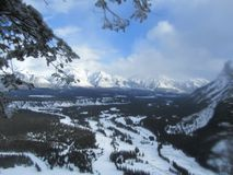 The canadian rockies stock image