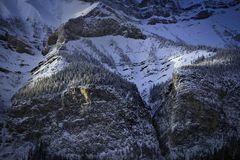 Canadian Rockies in winter Stock Photo