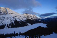 canadian rockies in winter Stock Image