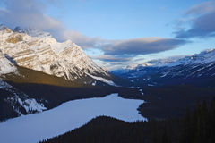 canadian rockies in winter Stock Photography