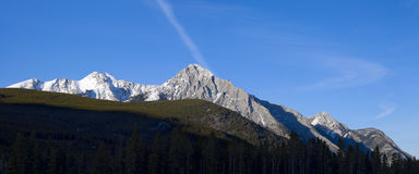 Canadian Rocky Mountain Panorama Royalty Free Stock Images