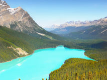 Canada, Banff National Park, Peyto Lake Mountains stock photography