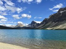Canadian Rocky Mountains at Bow Lake. In Alberta, Canada royalty free stock images