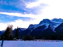 Canadian Rocky Mountains at Canmore, Alberta, Canada royalty free stock photography