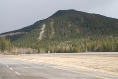The Canadian Rocky Mountains. The Eastern foothills of the Canadian Rocky Mountains near Hinton Alberta Stock Photo