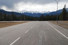 The Canadian Rocky Mountains. The Eastern foothills of the Canadian Rocky Mountains near Hinton Alberta Stock Photos