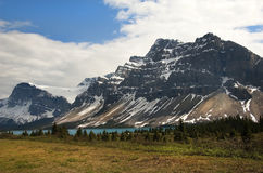 Canadian Rocky Mountains and glacial lake Stock Images