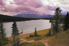 Canadian scenery on the Rockies stock photo