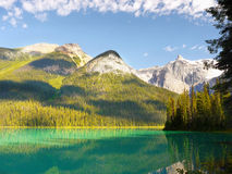 Canadian Scenic Landscape, Emerald Lake royalty free stock photos