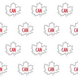Canadian seamless pattern Royalty Free Stock Image