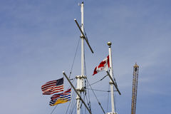 Canadian Ships Masts Royalty Free Stock Photos