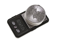 Canadian Silver Coin Investment, one ounce troy. Stock Image