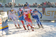 Canadian Skier Gaiazova in Milan Race in the City Stock Photos