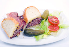 Canadian smoked meat, traditional Royalty Free Stock Photos