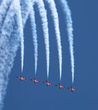 Canadian Snowbirds. Canadian Air Force Snowbirds Demonstration Team Royalty Free Stock Photography