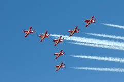Canadian Snowbirds aerobatic team royalty free stock photo
