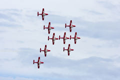 Canadian Snowbirds aerobatic team Stock Image