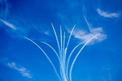 Snowbirds - Canadian Forces 431 Air Demonstration Squadron royalty free stock images