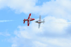 Canadian Snowbirds Show Stock Photography