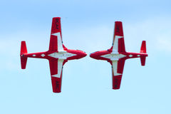 Canadian Snowbirds Show Royalty Free Stock Photos