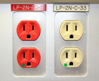 Canadian Sockets Royalty Free Stock Image