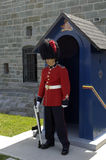 Canadian soldier in Quebec citadel Stock Photo