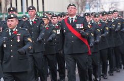 Canadian Soldiers At Remembrance Day Ceremony Royalty Free Stock Images