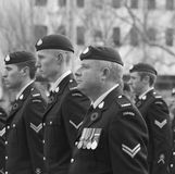 Canadian Soldiers At Remembrance Day Ceremony Stock Photos