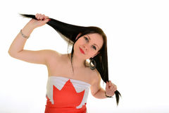 Canadian Sportsfan Royalty Free Stock Photography