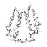 Canadian spruce. Canada single icon in outline style vector symbol stock illustration web. Royalty Free Stock Photography