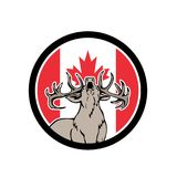 Canadian Stag Deer Canada Flag Icon Stock Photography