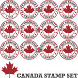 Canadian stamp set Stock Images