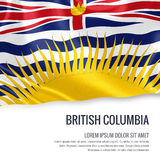 Canadian state British Columbia flag. Stock Image