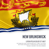Canadian state New Brunswick flag. Royalty Free Stock Photography