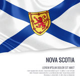 Canadian state Nova Scotia flag. Royalty Free Stock Photography