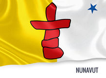Canadian state Nunavut flag. Royalty Free Stock Images