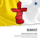 Canadian state Nunavut flag. Stock Photo