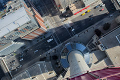 Canadian Street from Calgary Tower Royalty Free Stock Photo