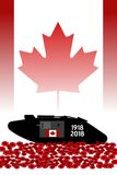 Canadian tank, commemoration of the centenary of the great war. 1918 Royalty Free Stock Images