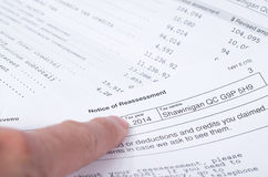 Canadian Tax Notice of reassessment Royalty Free Stock Photography
