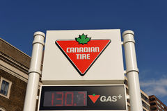 Canadian Tire Gas Station Sign Royalty Free Stock Photography