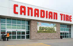 Canadian Tire Store Welcoming Spring Season Stock Images