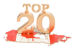Canadian Top 20 concept, 3D rendering Royalty Free Stock Photography