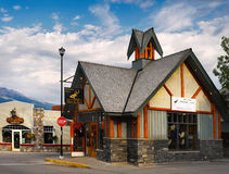 Canadian Town of Jasper Stock Photos
