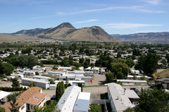 Canadian town - Kamloops. Panorama of Canadian city - Kamloops (Westsyde district) in British Columbia Stock Photography