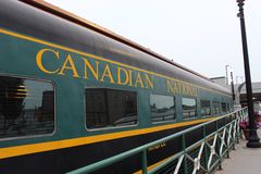 Canadian train Stock Images