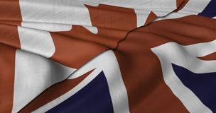 Canadian and UK flag Royalty Free Stock Images