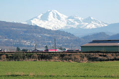 Canadian View of Mount Baker Stock Images